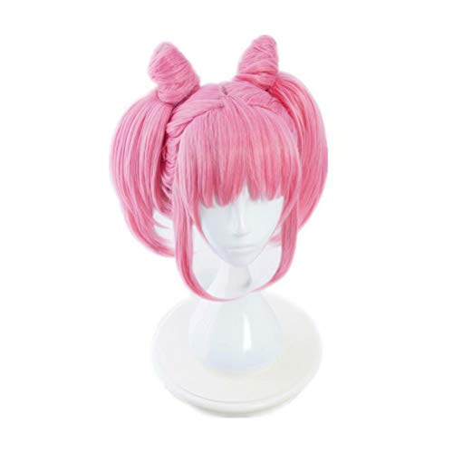 COSPLAZA Lovely Pink Short Hair Straight Bangs Clip