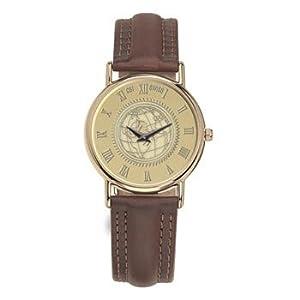 Temple Owls Men's 18K Gold 7M Watch Brown