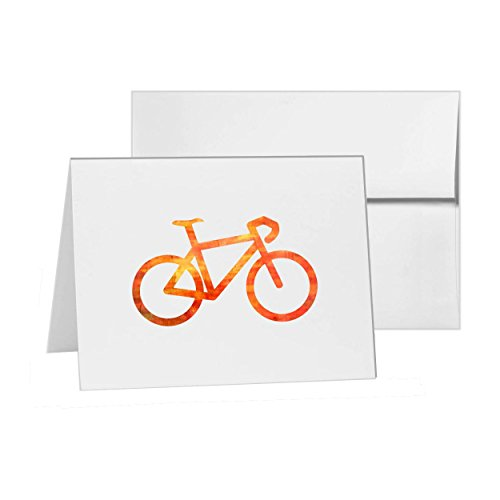 Bicycle Bike Equipment Race Ride, Blank Card Invitation Pack, 15 cards at 4x6, Blank with White Envelopes Style 10749