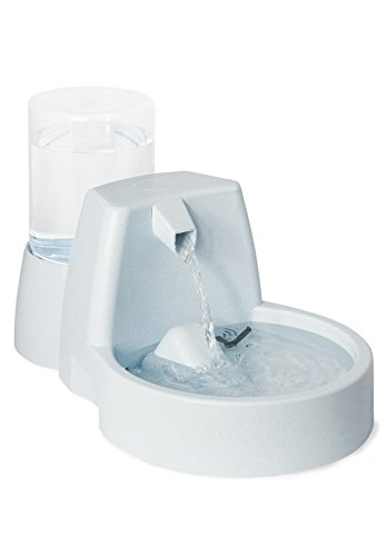 PetSafe Drinkwell Original Dog and Cat Water Fountain with Bonus 50 oz. Reservoir, 100 (Drinkwell Pet Water Fountain)
