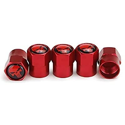 MARLBSTON 5pcs Car Tire Stem Valve Caps Wheel Tyre Dust Stems Cover Compatible with Cars, SUV, Truck, Motorcycles: Automotive