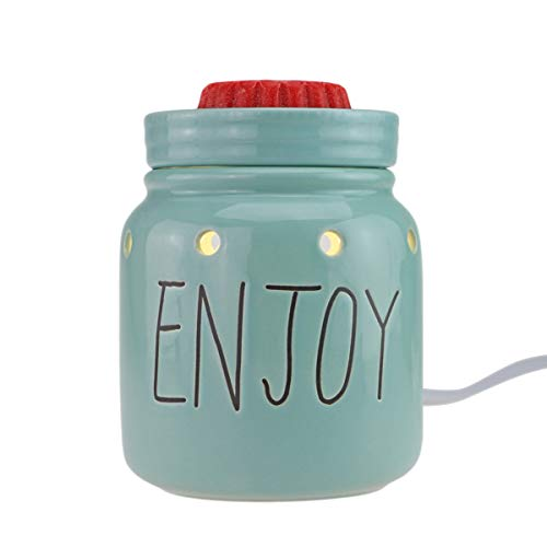 StarMoon Electric 2-in-1 Candle Warmer for Wax Melt, Home Fragrance Diffuser, Fragrance Air Fresheners, Home Décor, No Flame, Removable Dish, with One More Bulb (Mason Jar) (Sunflower Warmer Candle)