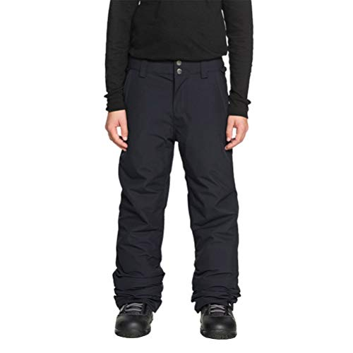 Quiksilver Boys' Big Estate Youth 10K Snow Pants, Black, 12/L