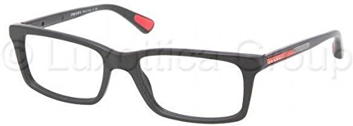 Men's Eyeglasses, Black, 55mm ()