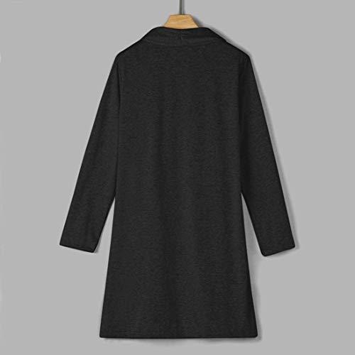 A Moda Schwarz Pullover Modern Marca Monocromo Manica Cappotto Stile Fit Giorno Di Giacca Donna Slim Maglia Lunga Autunno Mode Giubotto dHTqwFT