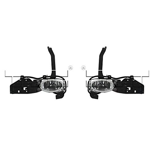 Fits 2008-2010 Honda Accord Pair Driver and Passenger Side Fog Light With Bulbs Included HO2592119 HO2593119 - Replaces 33951-TA0-305 33901-TA0-305 ;4dr for Sedan
