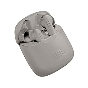 JBL Tune 220TWS by Harman True Wireless in-Ear Headphones with 19 Hours Playtime, Stereo Calls & Bluetooth 5.0 (Grey)
