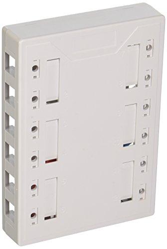 C2G 03849 12-Port Keystone Jack Surface Mount Box, White ()
