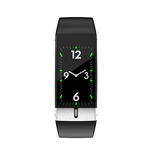OPTA SB-204 Hecuba Bluetooth Body Temperature Monitor, ECG, Heart Rate and Multi-Exercise Modes Fitness Band for Unisex(Black)