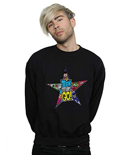 Noir Star Go Homme Teen Dc Comics Logo shirt Titans Sweat UPxHAzA