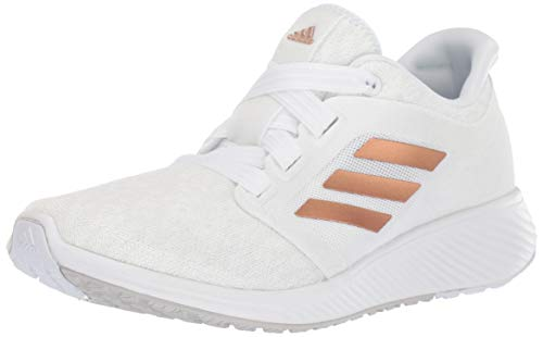 adidas Women's Edge Lux 3 Running Shoe Copper Metallic/Crystal White, 8 M US (Shoes White Lux)