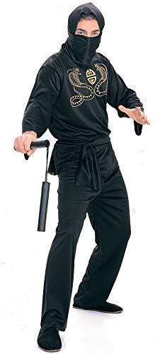 Rubie's Deluxe Adult Ninja Costume, Black, Medium