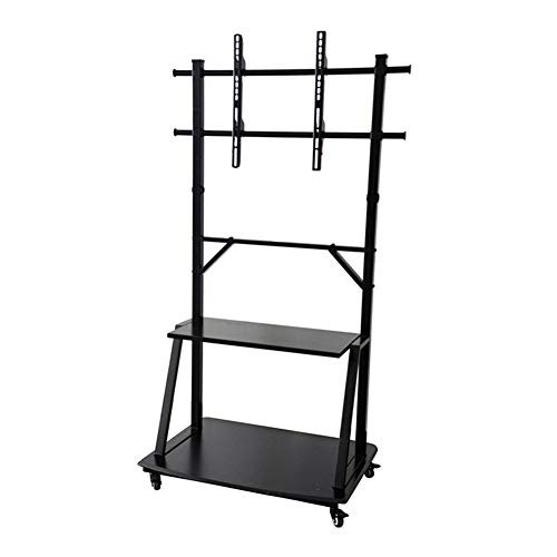 Exing TV Bracket, 37-95 Inch Large Screen TV Monitor Floor Stand Adjustable Video Conferencing Family Dual-Use Mobile Cart Rack