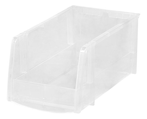 IRIS USA, Inc. M 8PC Set 1PK [ECOM] IRIS Medium Bin, 8 Pack, Clear,