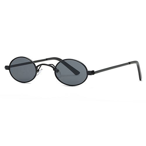 Kimorn Sunglasses Small Round Metal Frame Oval Candy Colors Unisex Sun Glasses K0577