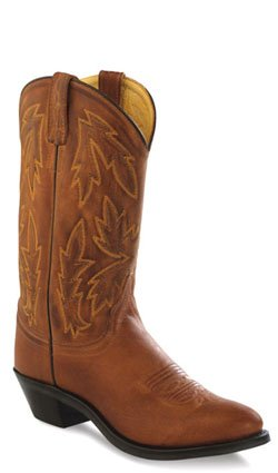 Old West Tan Canyon Womens Polanil Leather 11in Round Toe Cowboy Boots 7.5 M - Tan Cowboy Round Boots