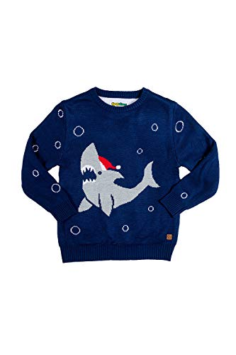 Baby Cute Shark Christmas Sweater - Infant Ugly Xmas Sweater: 12-18M Blue
