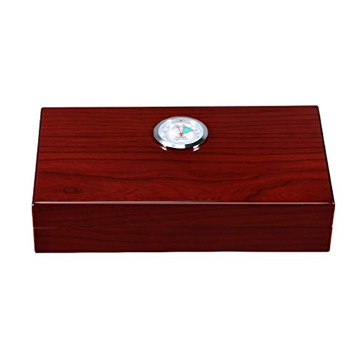 $78.47 electric cigar humidor WMM- Cigar box Advanced Cigar Box/Spain Cedar Wood Travel Portable Cigar humidor with Hygrometer Smoking Cigarette case, can accommodate 5-10 Cigar Boxes (Color : Red) 2019