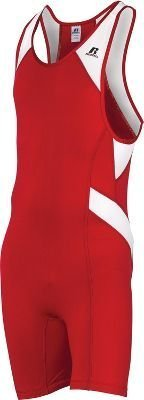 Russell Athletic Men's Wrestling Sprinter Singlet Suit Large Red and White 1T.