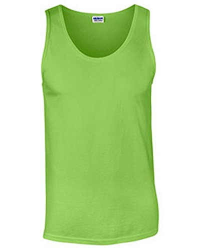 - Gildan Ultra Cotton 6 oz. Tank (G220)- LIME,2XL
