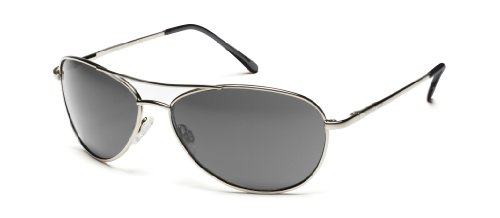 Suncloud Patrol Polarized Sunglass (Silver Frame/Gray Polar - Sunglasses Polarized Suncloud