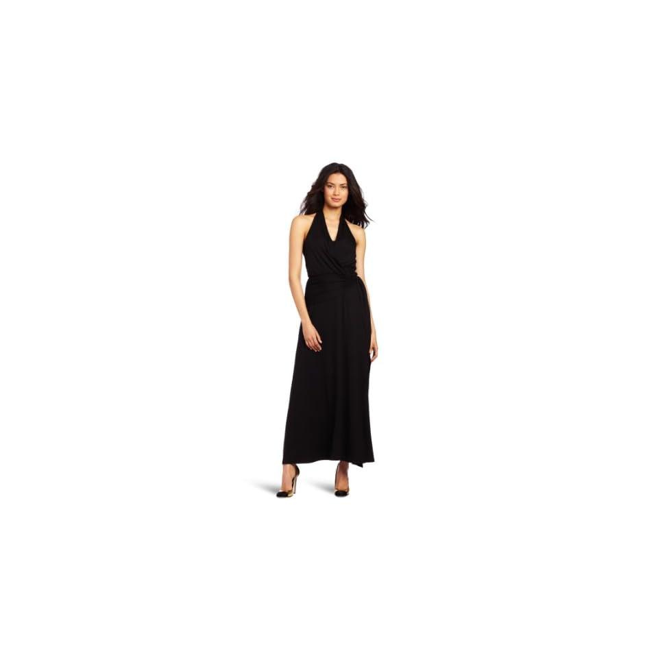 Three Dots Womens Maxi Dress, Black, Medium
