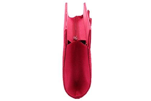 Léon montane - Pochette Cérémonie Mado Rouge - Rouge Taille unique