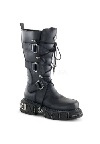 Leather Vegan hombre Botas Demonia Blk wC1qgtwI