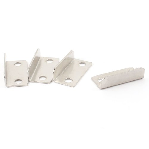 (4pcs Cabinet Cupboard Drawer Lock Strike Plate Replacements 2.8cmx1.2cmx0.8cm)