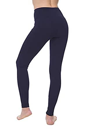 NIRLON Leggings de Cintura Alta Para Mujer Pantalones de Yoga y Running del Tobillo Longitud (Chica, Azul Marino)