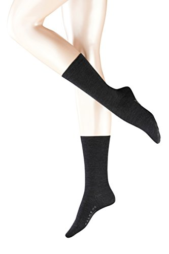 Falke Women's Soft Merino Wool-Cotton Socks,Anthracite Melange,41-42 (9.5-10.5 US) -