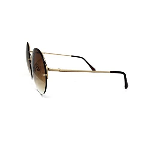 b4b88832b free shipping O2 Eyewear 7108 Rimless Oversized Hippie Round Womens Mens  Sunglasses