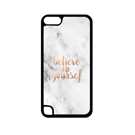 Customizable iPod Touch 5 Generation 5th Best Case Protection Clear Believe In Yourself Marble (Frozen Ipod Cases 5th Generation)