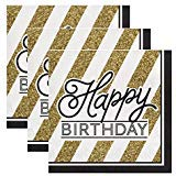 Buy birthday party pack black and gold
