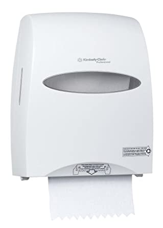 """Kimberly-Clark Professional 09991 White SaniTouch Roll Towel Dispenser, 16.13"""" Height x 12.63"""" Width x 10.2"""" Depth"""