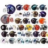 32 NFL Mini Football Helmets