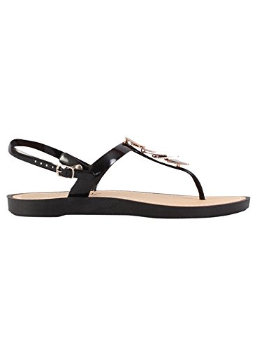 Ladies Sandals Womens Flat Summer Beach Shoes Ankle Strap Toe Post Sandals Black aSKAUNThHD