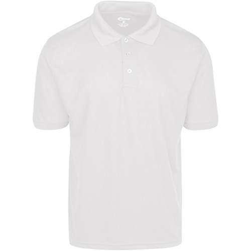 Mens White Drifit Polo shirt Small