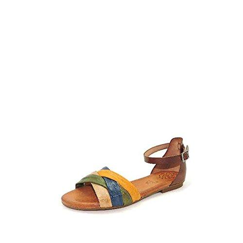 Sandalia tubulare multicolor talon moka. Talla 37