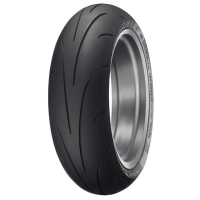 (Dunlop Sportmax Q3+ Rear Motorcycle Tire 190/55ZR-17 (75W) for Yamaha YZF-R1 2009-2018)