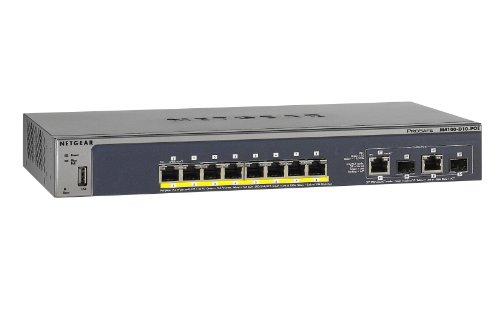 Netgear ProSafe M4100-D10-POE: 8-Port PoE Managed Switch with 2 Gigabit Uplink Ports (FSM5210P-100NES), Best Gadgets
