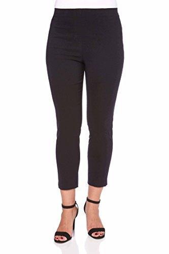Roman Originals Femme Pantacourt 7/8 Amincissant Stretch - Jeans Jeggings Grande Taille Printemps Ete Simple Poches Noir