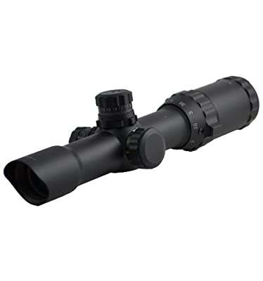 "SNIPER® Scope 1-4x28 5"" Eye Relief QTA W/e Side RGB ILL Etched Chevron Glass Reticle with Ring by Sniper"