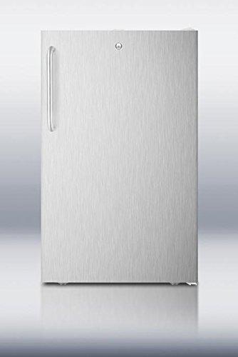Summit FF511LBISSTB Refrigerator, Stainless (Summit Stainless Steel Locks)