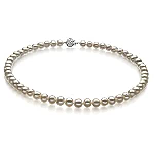 Bliss White 6-7mm A Quality Freshwater Cultured Pearl Necklace-16 in Chocker Length