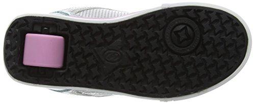 Heelys Motion Plus, Zapatillas para Niñas Plateado (Silver /     LightPink /     Light Blue)