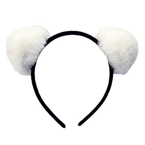 Coca Cola Girl Costumes - BUYITNOW Girls Fur Ball Headband Fluffy