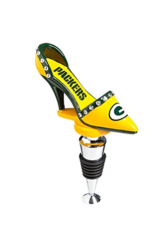 NFL Green Bay Packers High Heel Shoe Wine Bottle Stopper, Small, Multicolored (Green Packers Stopper Wine Bay)