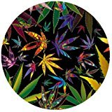 weed mouse pad - Marijuana Weed Leaf Colorful Nature Computer Mouse Mat for Round Mouse Pad