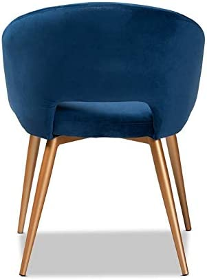 Baxton Studio Vianne Velvet Metal Dining Chair